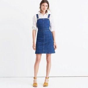 Madewell Blue Denim Hillview Overall Dress